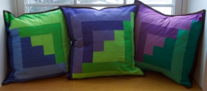 Log Cabin Cushions 1