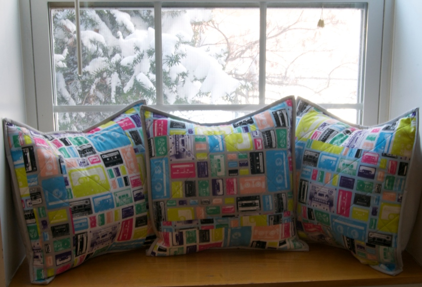 High Fidelity – Cushions featuring Geeky Chic by Riley Blake