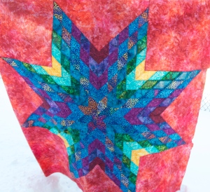 Batik Lone Star with Backing