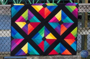 Kite Flight Quilt - Pieced December, 2013 and January, 2014; Quilted, February 2014; Completed, July 2014.