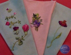 Ribbon embroidery - Designs by Mary Jo Hiney