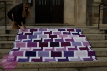 Chatter Box Quilt Boo Davis Dare to Be Square Kona Fields of Iris 4