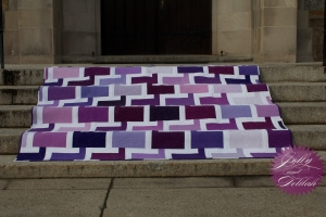 Chatter Box Quilt Boo Davis Dare to Be Square Kona Fields of Iris 5