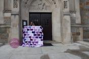 Chatter Box Quilt Boo Davis Dare to Be Square Kona Fields of Iris 6
