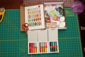 Tula Pink Marquise and Aurifil Thread Open